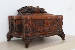 Old custom jewelry box, sewing box
