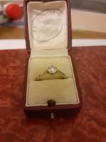 Gyémánt Szoliter / Eljegyzési gyűrű 0.60 ct briliánssal