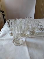 6 db biedermeier vastag falú talpas pohár 100-120 évesek lehetnek