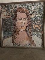 Beépíthető mozaik portré