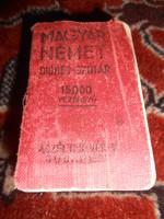 Sávoly Ferenc dr. Magyar-német dióhéj-szótár minikönyv miniatűr