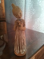 Kovács Margit kislány festett figura