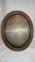 Kopcsányi Ottó ötvös iparművész bronz réz asztali fali tükör vagy kép keret jelzett eredeti