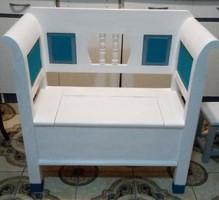 Karos láda ,karos pad  ,felnyitós láda kerti bútor 93*93cm