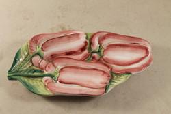 Jelzett majolika asztalközép / kínáló 173