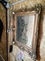 70x60-as blondel keretes tükör,pipere,antik,vintage,dekor design