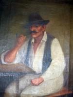 Mesterházy Dénes olaj festmény, vászon olcsón