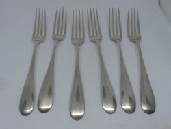 6 db bécsi ezüst villa Diana fejes fémjellel