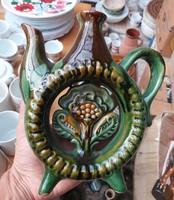 Retro kiöntő  butella, kulacs  falusi paraszti dekoráció
