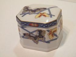 Pillangós fedeles porcelán doboz, tartó