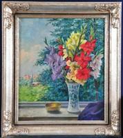 Gasteiger Anna (1877-1954) Virágváza csendélet