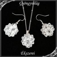 Ékszerek-szettek: kristály ékszer szett SSZNA-KGY01-01 clear