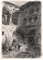 Rauscher Lajos 19 x 13 cm rézkarc