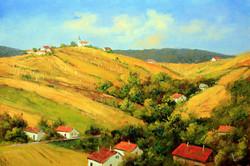 Lantos György:Zalai szőlő dombok 40x60 cm