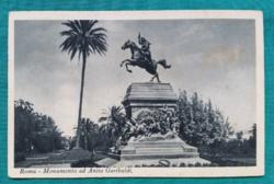 Olaszország,Róma,emlékmű,régi fekete-fehér,postatiszta képeslap