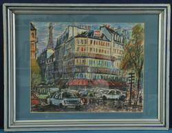 Frank Frigyes (1890-1976): Utcakép Párizsból