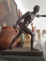 Bronz Gladiátor szobor