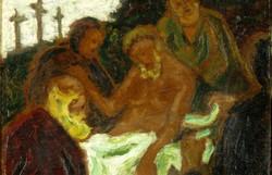 """Európai festő, XX. század : """"Jézus sírbatétele"""""""