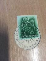 1938 Érsekújvár visszatért bélyegzés boríték kivágáson .