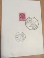1940 Kolozsvár visszatért bélyegzés popírlapon.