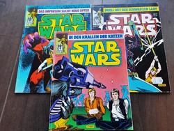 3 kötet 1986-os nyugatnémet Star Wars képregény