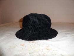 Fekete kord férfi kalap ( 57-es )