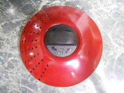 Edény lábos fedő fém piros zárható nyitható 16 cm