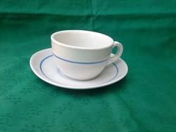Zsolnay, teáscsésze és csészealj (világoskék-fehér), 6db. OLCSÓBB!