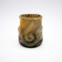 Francia kaspó Luneville - Vase by Keller and Guerin Flambe' and Irredescent, M463