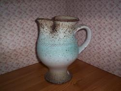 Érdekes formájú váza, régi, jelzett