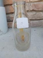 M.r Kir.  Áll. gazdaság Puszta-Szentkirály tejes üveg