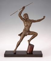 Art deco lándzsa dobó szobor