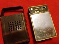 Antik zsebrádió bőrtokos nem tesztelt alkatrésznek árulom a képek szerint