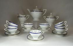 1F518 Régi Schlaggenwald porcelán 6 személyes teás készlet