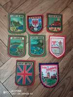 8 darab textil címer az 1970-es évekből
