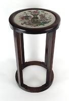 1F741 Porcelánbetétes orientalista virágtartó posztamens 50 cm