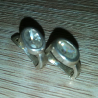 New! Marked silver crystal stone earrings