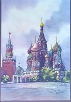 Festmény, Irlna Sz. Zagovorcseva, a Boldog Vazul-székesegyház Moszkva,