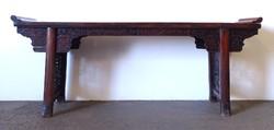 1F745 Hatalmas keleti orientalista tálaló asztal 50 x 240 cm