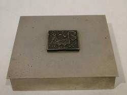 5010 Fabetétes iparművész fém doboz