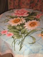 Vintage virágos nagy méretű törölköző