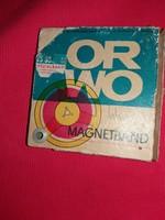 Antik ORWO üres orsós magnószalag állapot a képek szerint