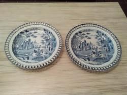 Antik Keleties áttörtmintás porcelán tányérok.