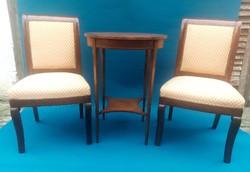Biedermeier 2db.szék és 1db.kisasztal.
