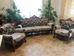 Antik kanapé 2db fotellel