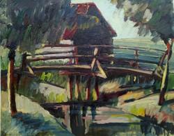 Festmény, Tájkép híddal