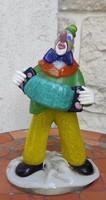 Murànó üveg színes bohóc! Cirkusz:Zene-bohóc hermonikàval !