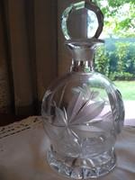 Lead crystal brandy-liqueur decanter