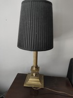 Art deco réz/bronz lámpa fekete textil burával