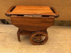Baba bútor zsurkocsi.Miniatűr.